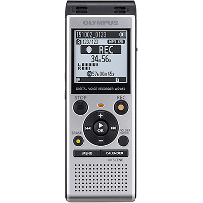 4.Olympus WS-852Voice Recorder, Silver