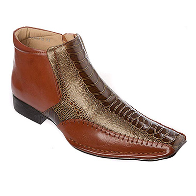 8. Alberto Fellini Mens Cow-Boy Boots Western Style Slip-on Shoes