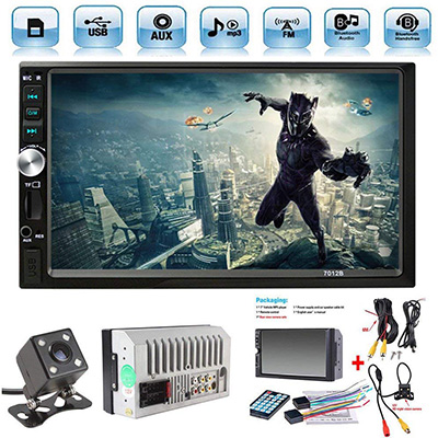 "8. Ewalite 7"" Double Din Stereo Car Receiver"