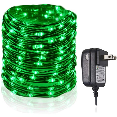 10. HAHOME 33Ft 100 LEDs Waterproof Led String Lights