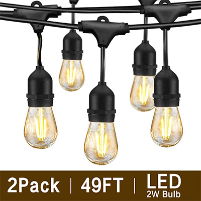 7. Svater 2 Pack S14 LED String Lights