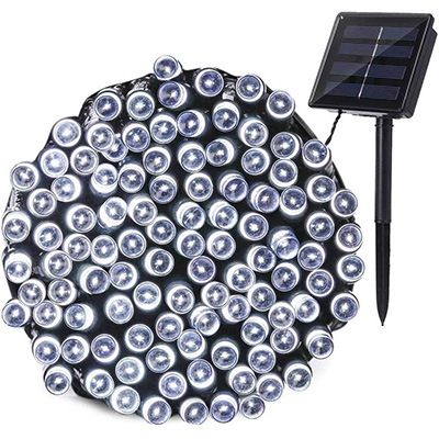 2. Joomer 72ft 200 LED 8 Modes Solar String Lights
