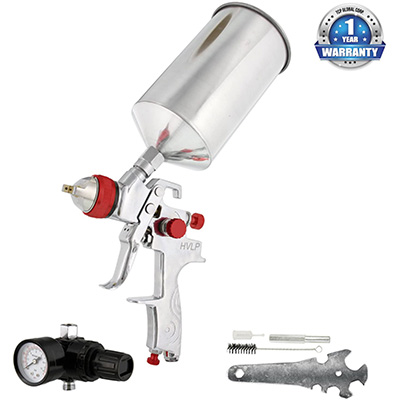 3. TCP Global Professional Gravity Feed HVLP Spray Gun
