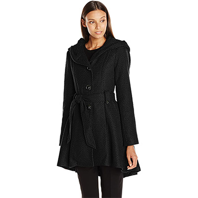 2. Steve Madden Women's Single Breasted Wool Coat