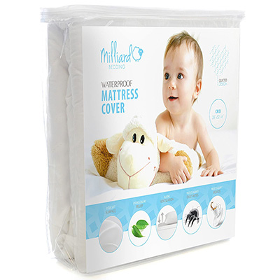 6. Milliard Quilted Crib and Toddler Mattress Protector Pad