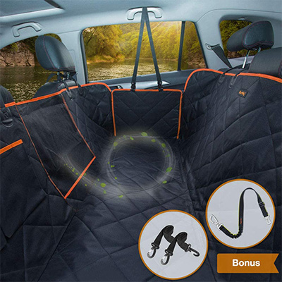 4. iBuddy Dog Seat Covers for Back Seat