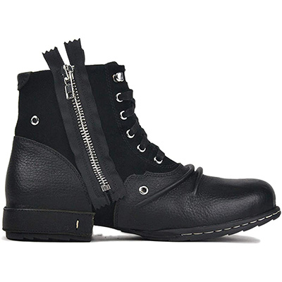 10. OTTO ZONE Moto Boots Zipper-Up Chukka Boots (OZ-5008-8)