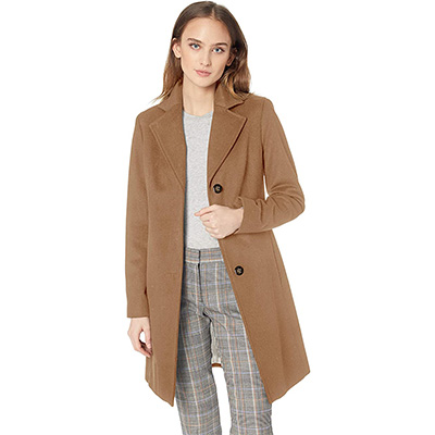 4. Calvin Klein Women's Cashmere Wool Blend Coat