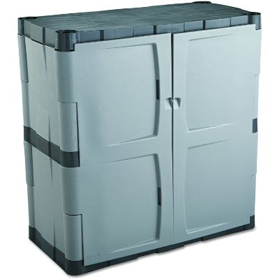 5. Rubbermaid FG708500MICHR Double-Door Storage Cabinet