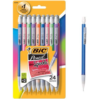 1. BIC MPLP241 Xtra-Sparkle Mechanical Pencil