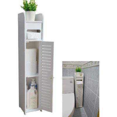 2. AOJEZOR Bathroom Corner Floor Cabinet