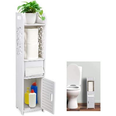 9. Gotega Small Bathroom Corner Floor Cabinet
